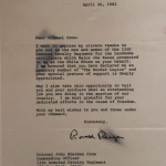 A letter to our Regiment from President Reagan.